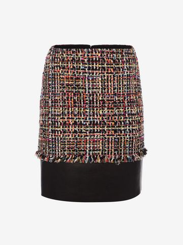 ALEXANDER MCQUEEN Wishing Tree Tweed Mini Skirt Skirt D f