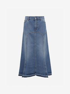 ALEXANDER MCQUEEN Skirt Woman Denim Skirt f