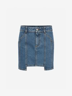 ALEXANDER MCQUEEN Skirt Woman Denim Mini Skirt f