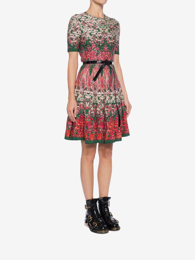 ALEXANDER MCQUEEN Flowerbed jacquard knit Mini Dress Mini Dress Woman d