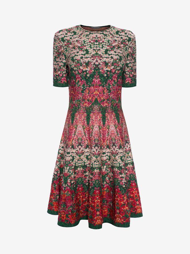 ALEXANDER MCQUEEN Flowerbed jacquard knit Mini Dress Mini Dress Woman f