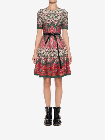 ALEXANDER MCQUEEN Flowerbed jacquard knit Mini Dress Mini Dress Woman r