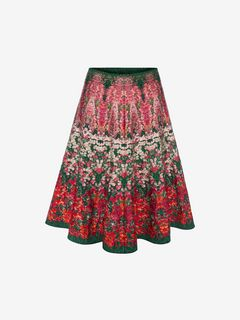ALEXANDER MCQUEEN Skirt Woman Flowerbed jacquard knit Mini Skirt f