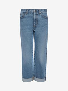 ALEXANDER MCQUEEN Jeans Woman Boyfriend denim pants f