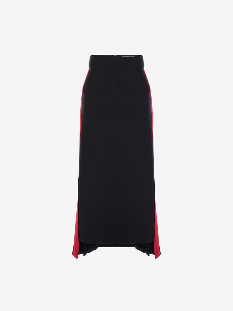Military Midi Skirt in Black