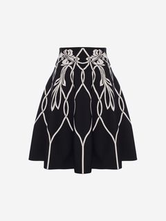ALEXANDER MCQUEEN Skirt Woman Art Nouveau Jacquard Mini Skirt f