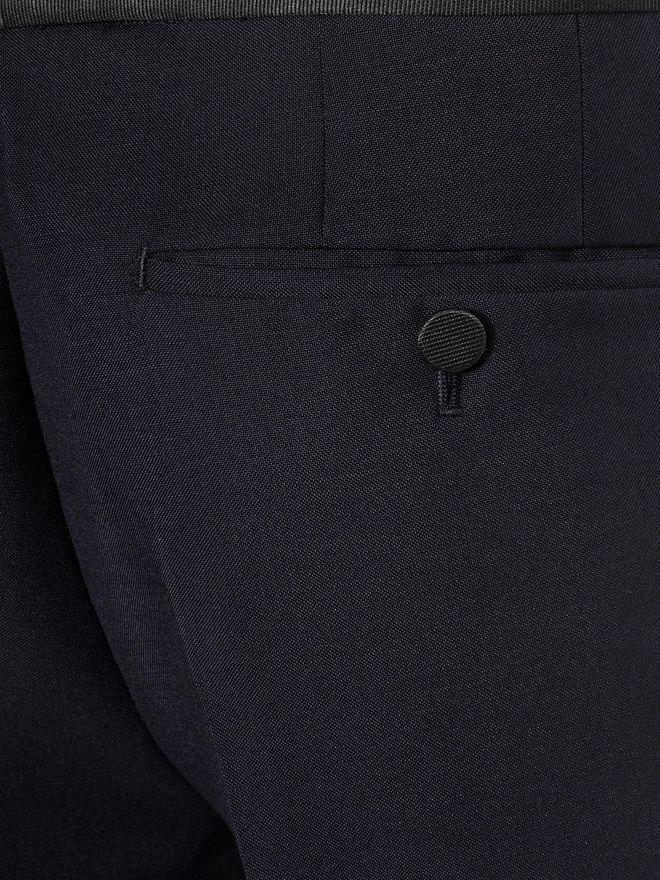 ALEXANDER MCQUEEN Wool Mohair Tuxedo Trousers Tailored Pant U a