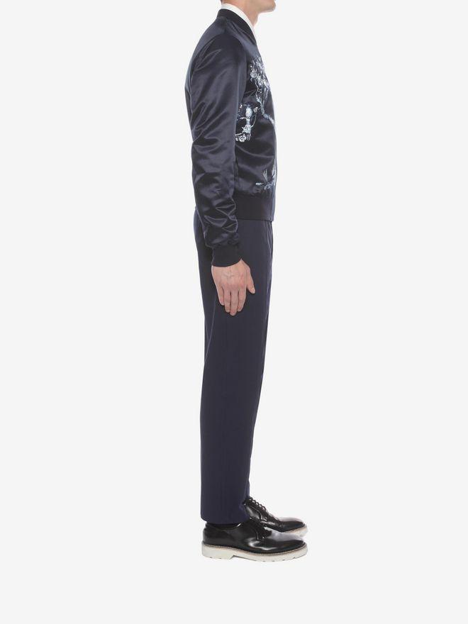 ALEXANDER MCQUEEN Wool Mohair Tuxedo Trousers Tailored Pant U d