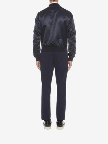 ALEXANDER MCQUEEN Wool Mohair Tuxedo Trousers Tailored Pant U e