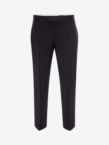ALEXANDER MCQUEEN Wool Mohair Tuxedo Trousers Tailored Pant Man f