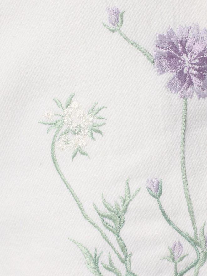 ALEXANDER MCQUEEN Embroidered Denim Shorts Trousers D a