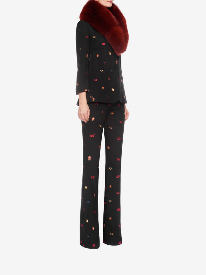 ALEXANDER MCQUEEN Fil Coupe Bootcut Trousers Trousers D d