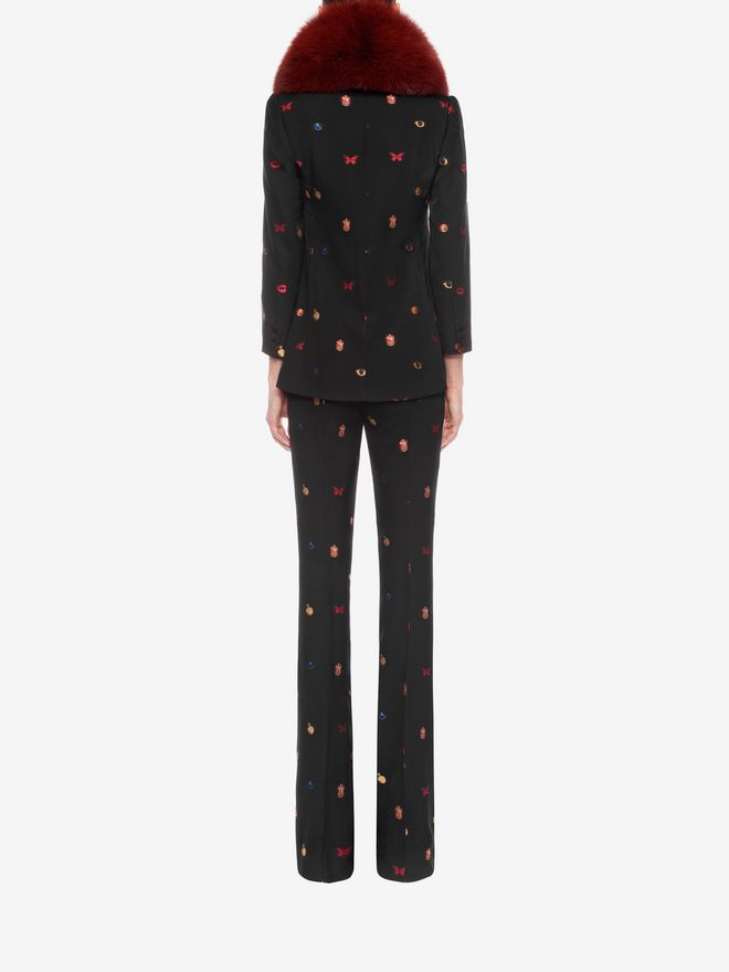 ALEXANDER MCQUEEN Fil Coupe Bootcut Trousers Trousers D e