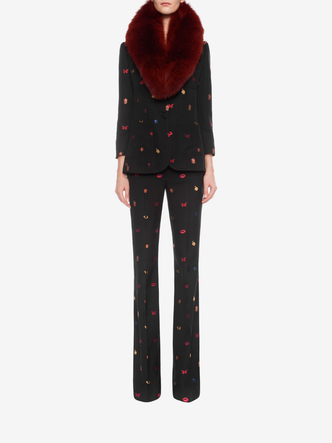 ALEXANDER MCQUEEN Fil Coupe Bootcut Trousers Trousers D r