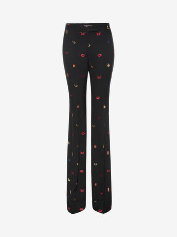 ALEXANDER MCQUEEN Fil Coupe Bootcut Trousers Trousers D f