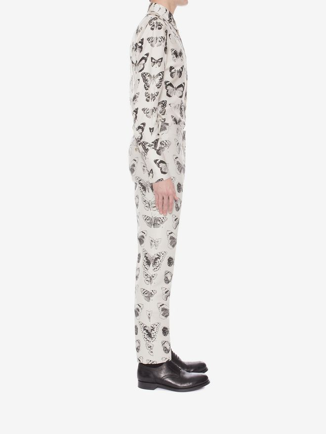 ALEXANDER MCQUEEN Moth Jacquard Trousers Tailored Pant Man d