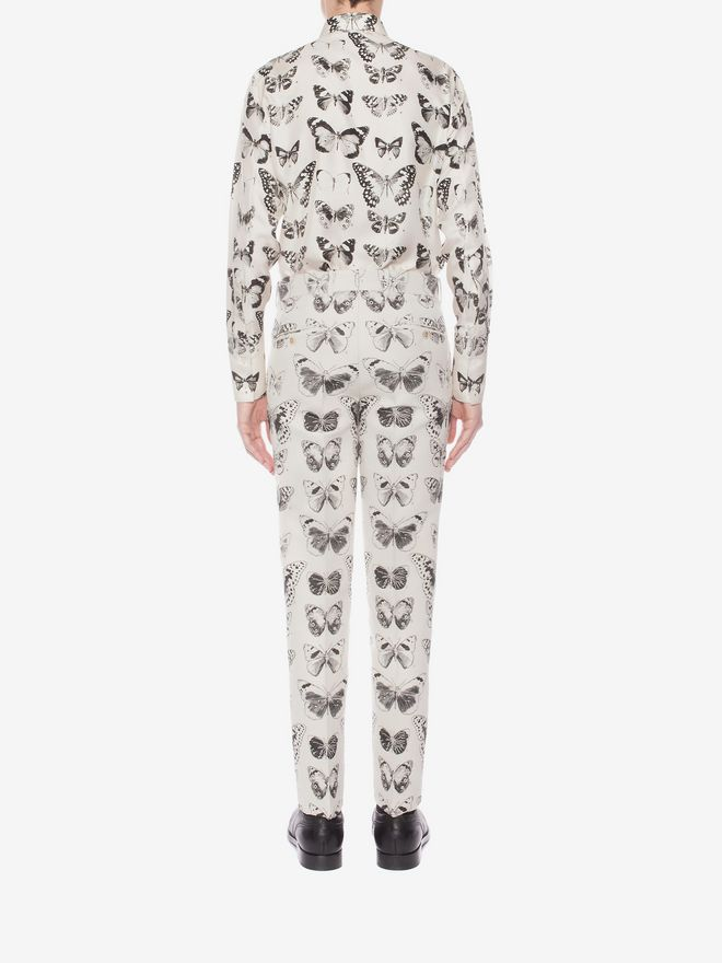 ALEXANDER MCQUEEN Moth Jacquard Trousers Tailored Pant Man e