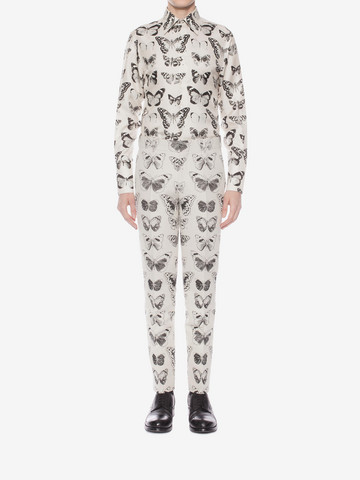 ALEXANDER MCQUEEN Moth Jacquard Trousers Tailored Pant Man r