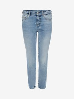 ALEXANDER MCQUEEN Jeans D Cropped Fitted Denim Jeans f