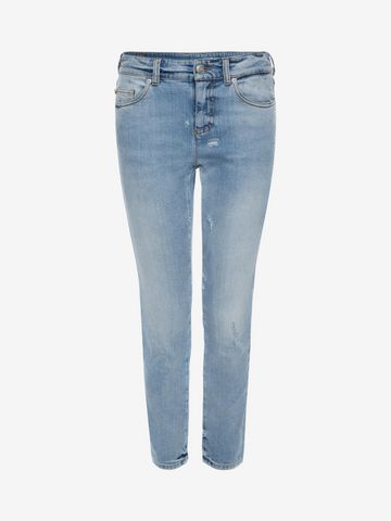 ALEXANDER MCQUEEN Cropped Fitted Denim Jeans Jeans D f