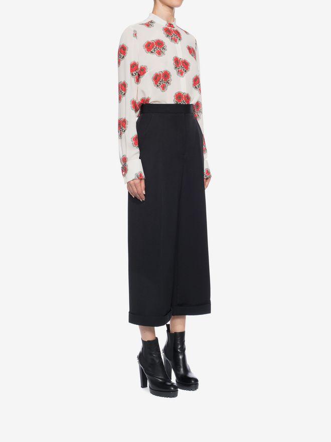 ALEXANDER MCQUEEN High Waisted Culottes Trousers Woman d
