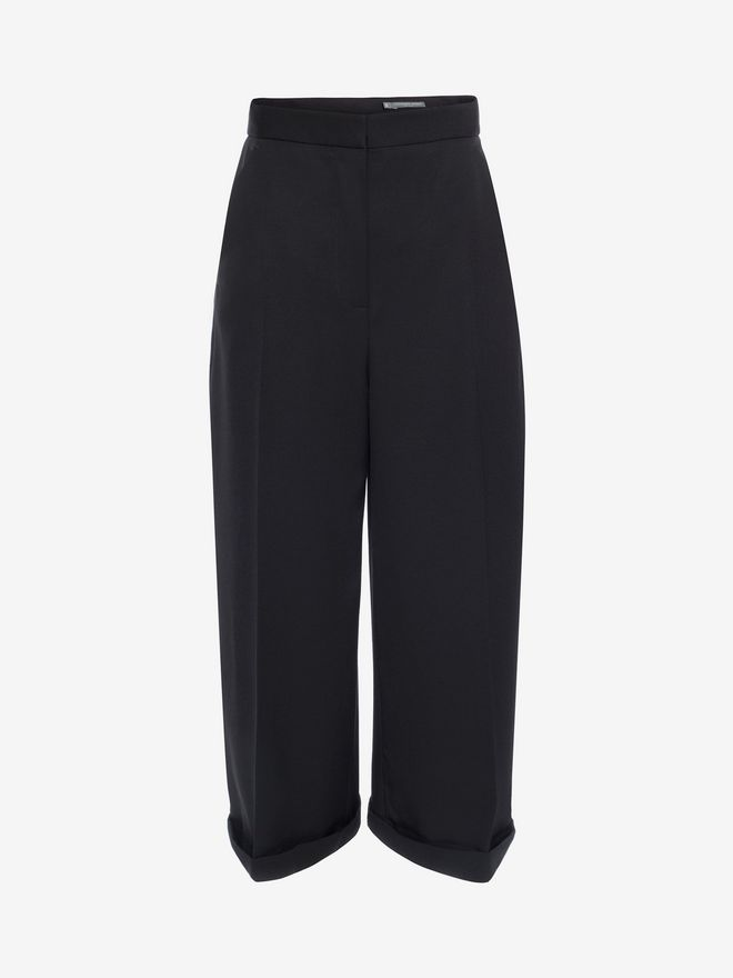 ALEXANDER MCQUEEN High Waisted Culottes Trousers D f