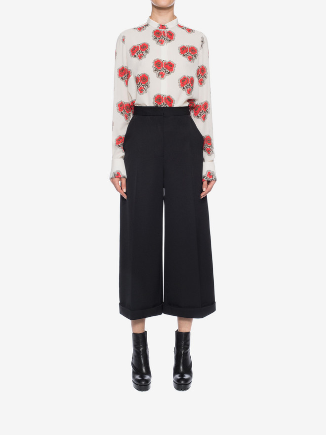 ALEXANDER MCQUEEN High Waisted Culottes Trousers D r