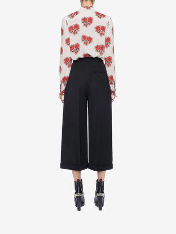 ALEXANDER MCQUEEN High Waisted Culottes Trousers Woman e