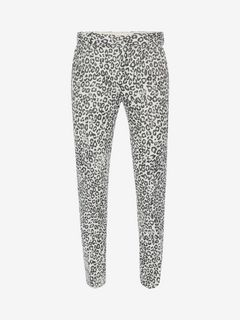 ALEXANDER MCQUEEN Tailored Pant U Faded Leopard Trousers f