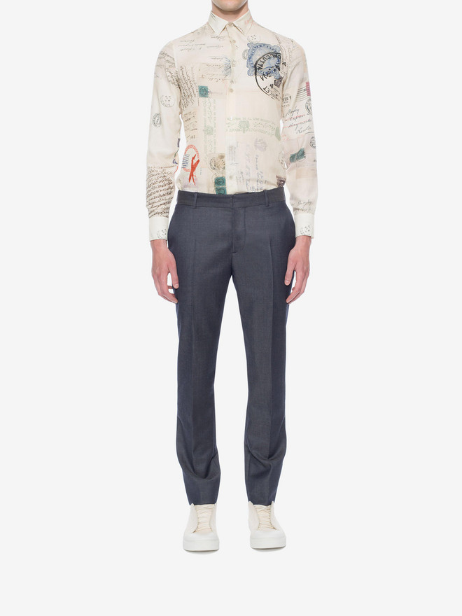 ALEXANDER MCQUEEN Mohair Trousers Tailored Pant U r