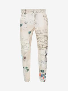 "ALEXANDER MCQUEEN Tailored Trouser U ""Letters from India"" Print Trousers f"