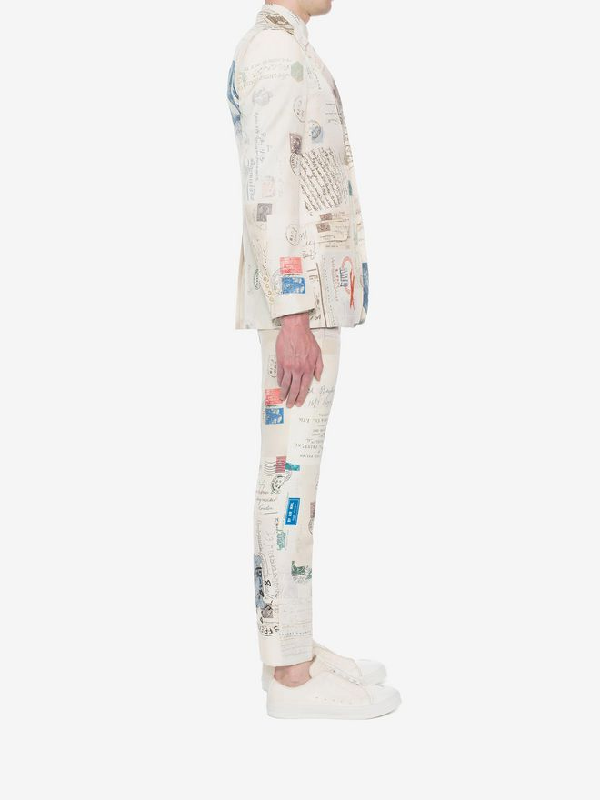 """ALEXANDER MCQUEEN """"Letters from India"""" Print Trousers Tailored Pant U d"""