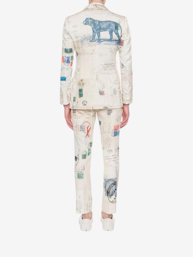 """ALEXANDER MCQUEEN """"Letters from India"""" Print Trousers Tailored Pant U e"""