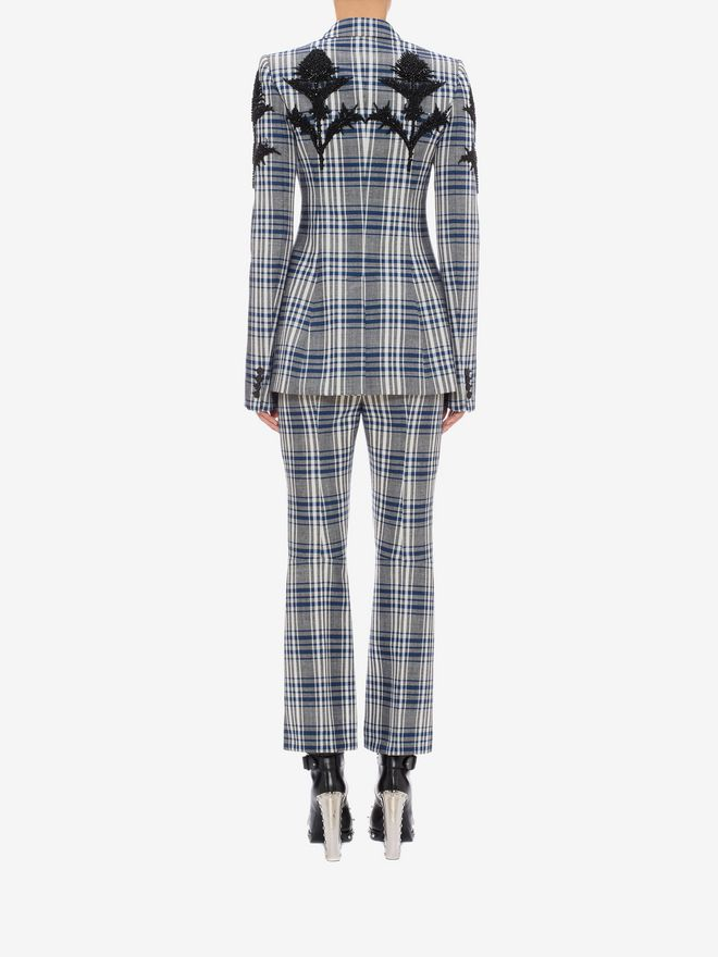 ALEXANDER MCQUEEN Celtic Check Tailored Trousers Trousers D e