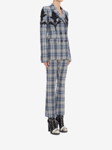 ALEXANDER MCQUEEN Celtic Check Tailored Trousers Trousers D d