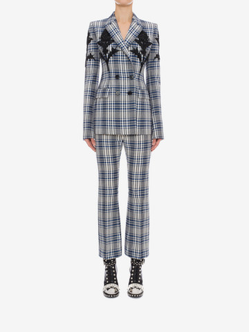 ALEXANDER MCQUEEN Celtic Check Tailored Trousers Trousers D r