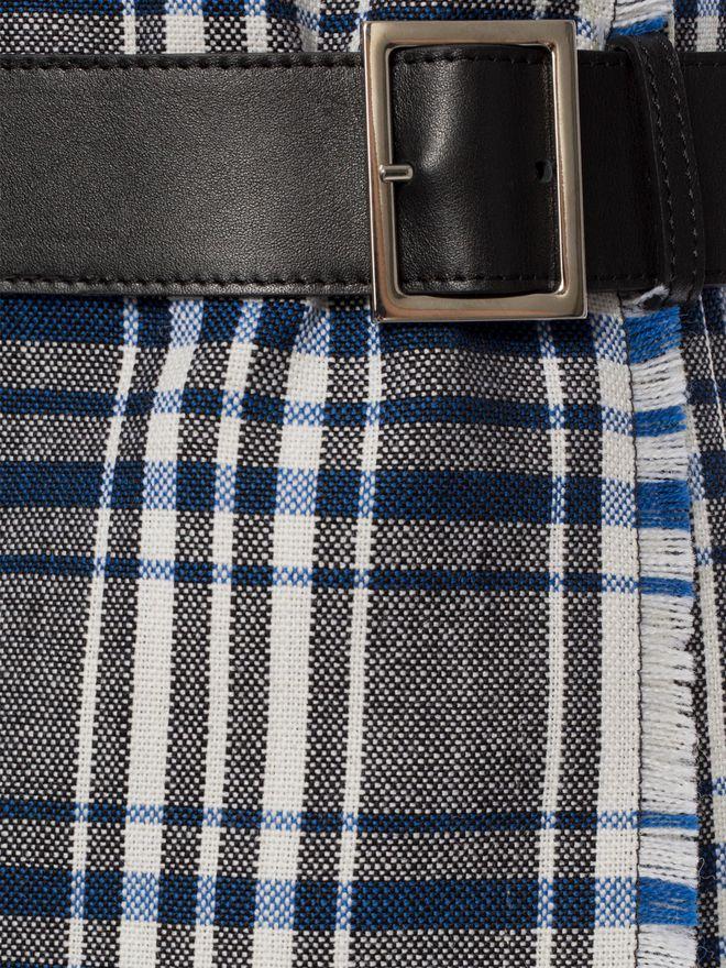 ALEXANDER MCQUEEN Celtic Check Kilt Trousers Skirt D a