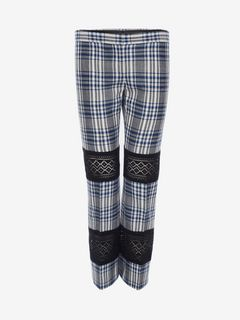 ALEXANDER MCQUEEN Pants D Macramé Celtic Check Tailored Trousers f