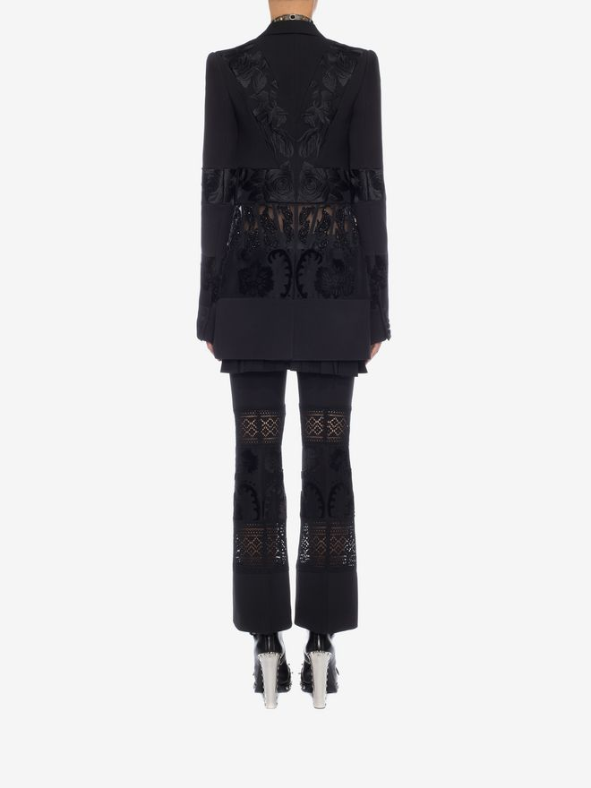 ALEXANDER MCQUEEN Jacquard Tailored Trousers Pants Woman e