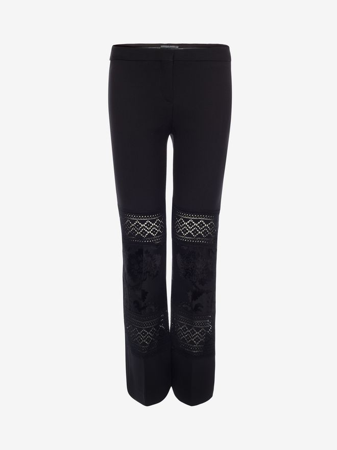 ALEXANDER MCQUEEN Jacquard Tailored Trousers Pants Woman f
