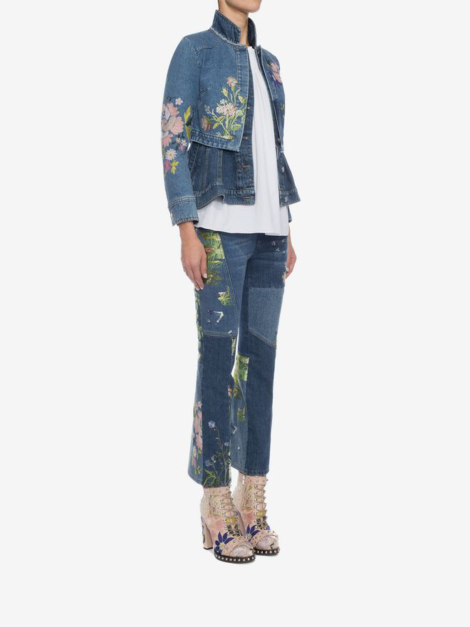 ALEXANDER MCQUEEN Embroidered Patchwork Jeans Jeans D d