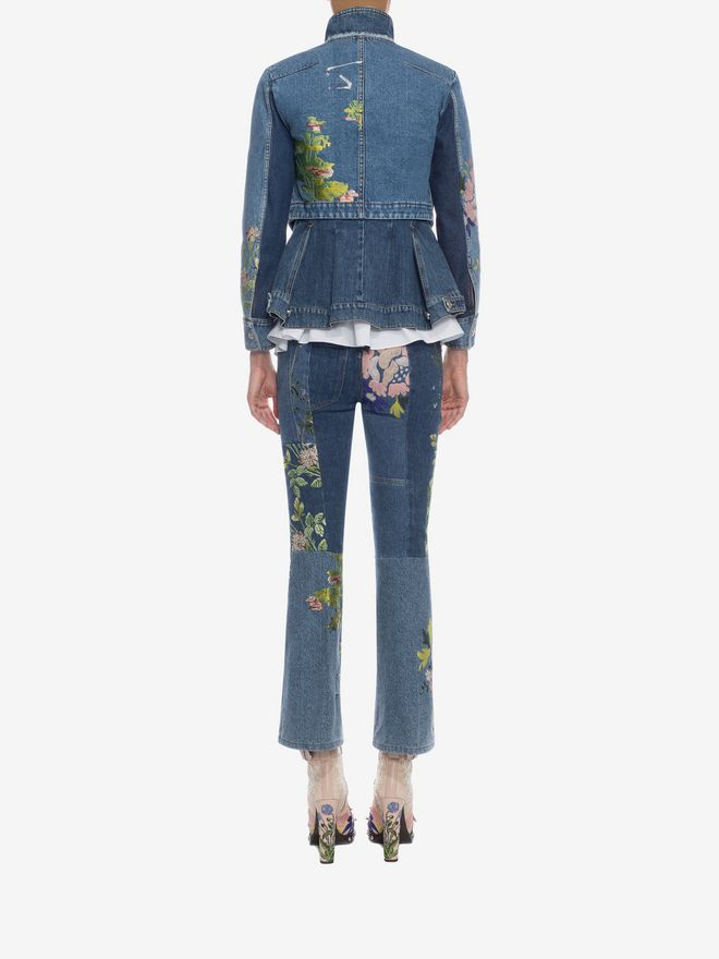 ALEXANDER MCQUEEN Embroidered Patchwork Jeans Jeans D e