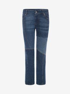 ALEXANDER MCQUEEN Jeans D Patchwork Jeans f