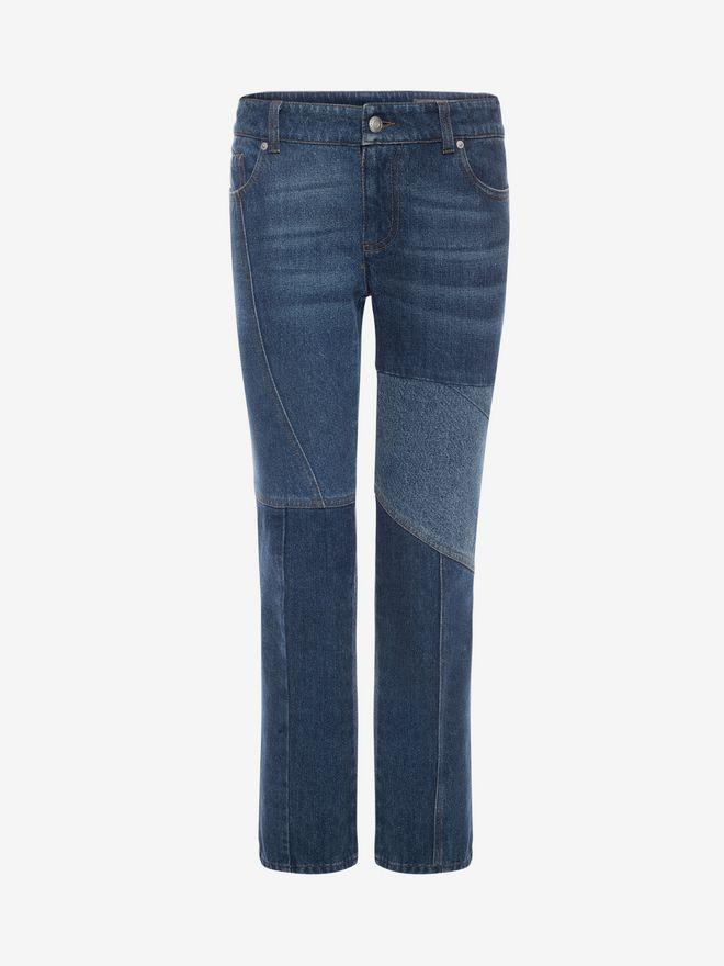 ALEXANDER MCQUEEN Patchwork Jeans Jeans D f