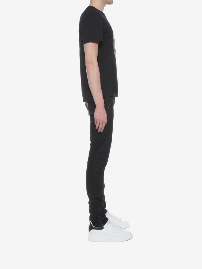 ALEXANDER MCQUEEN Skull Patchwork T-Shirt T-shirt Man d