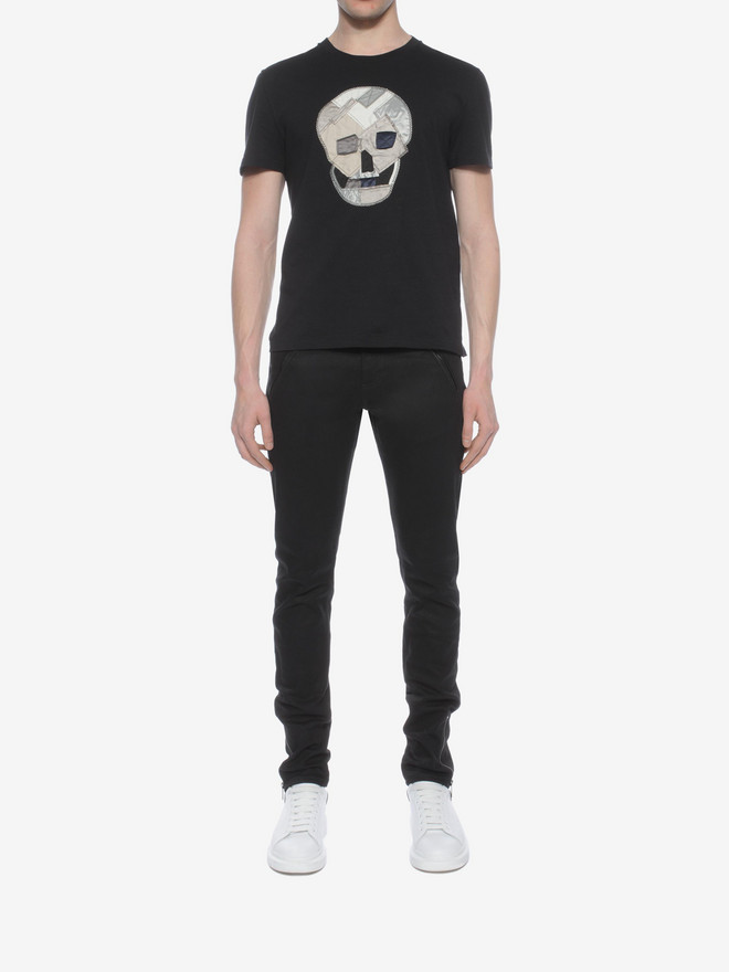 ALEXANDER MCQUEEN Skull Patchwork T-Shirt T-shirt Man r