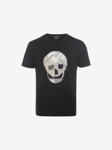 ALEXANDER MCQUEEN Skull Patchwork T-Shirt T-shirt Man f