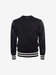ALEXANDER MCQUEEN Sweatshirt U Organic Embroidered Signature Sweatshirt f