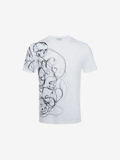 ALEXANDER MCQUEEN T 恤 男士 有机棉针织 Skull 印花 T 恤 f
