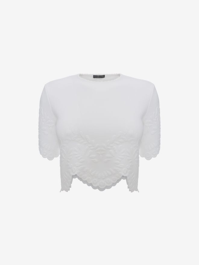 ALEXANDER MCQUEEN Knitted Crop Top Top D f